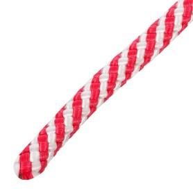 Шнур спирального плетения Standers 8 мм, 20 м, полипропилен, цвет белый/красный