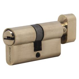 Цилиндр ключ/вертушка 30х30 золото, 60 C BK PB