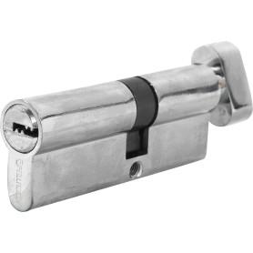 Цилиндр ключ/вертушка 35х45 хром, 80 C BK CP