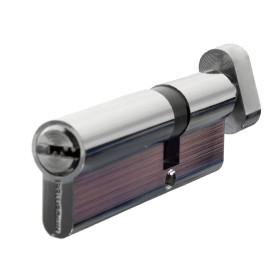 Цилиндр ключ/вертушка 35х55 хром, 90 C BK CP