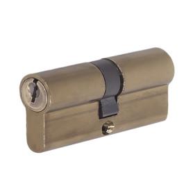 Цилиндр E AL 70, 35x35 мм, ключ/ключ, цвет бронза