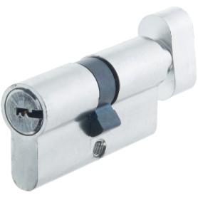 Цилиндр Standers ключ/вертушка 30х30 хром, TT-CAB817