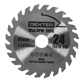 Диск пильный универсальный Dexter Power RW9231 85х15 мм, 24 Т