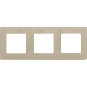 Рамка для розеток и выключателей Legrand Etika 3 поста, цвет слоновая кость