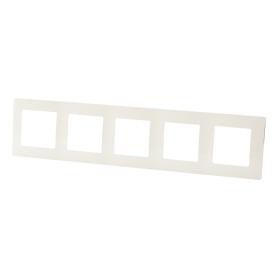 Рамка для розеток и выключателей Legrand Etika 5 постов, цвет слоновая кость