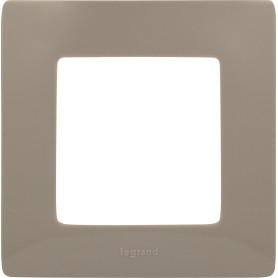 Рамка для розеток и выключателей Legrand Etika 1 пост, цвет светлая галька