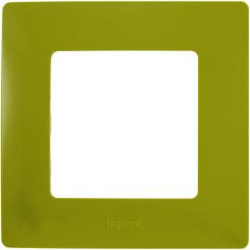 Рамка для розеток и выключателей Legrand Etika 1 пост, цвет зеленый папоротник