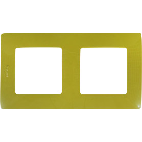 Рамка для розеток и выключателей Legrand Etika 2 поста, цвет зеленый папоротник