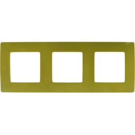 Рамка для розеток и выключателей Legrand Etika 3 поста, цвет зеленый папоротник