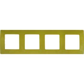 Рамка для розеток и выключателей Legrand Etika 4 поста, цвет зеленый папоротник
