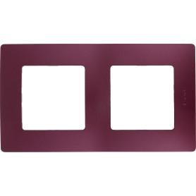 Рамка для розеток и выключателей Legrand Etika 2 поста, цвет слива