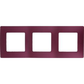 Рамка для розеток и выключателей Legrand Etika 3 поста, цвет слива