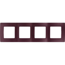 Рамка для розеток и выключателей Legrand Etika 4 поста, цвет слива