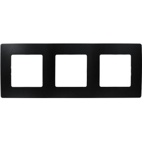 Рамка для розеток и выключателей Legrand Etika 3 поста, цвет антрацит