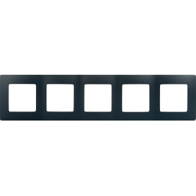 Рамка для розеток и выключателей Legrand Etika 5 постов, цвет антрацит