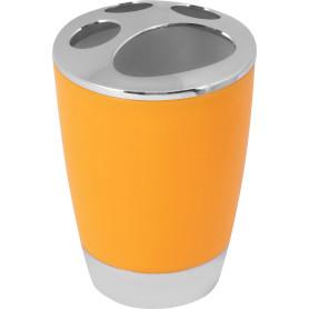 Стакан для зубных щёток настольный «Альма» пластик цвет оранжевый