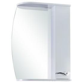 Шкаф зеркальный «Венеция» 55 см цвет белый