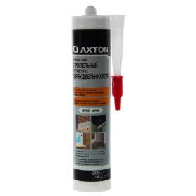 Герметик высокопрочный для наружных работ серый Axton, 280 мл