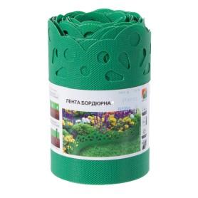 Лента бордюрная декоративная «Naterial» высота 20 см цвет зелёный
