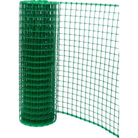 Решетка садовая 50х500 см размер ячейки 24х24 мм, цвет зеленый