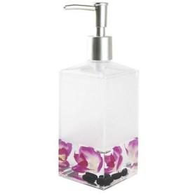 Дозатор для жидкого мыла настольный Verran «Phalaenopsis» акрил цвет розовый
