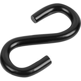 Крючок S-образный Standers 5х8 мм, цвет чёрный, 2 шт.