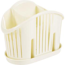 Сушилка для столовых приборов MIO, 19,5х17х17,5 см, полипропилен, цвет молочный