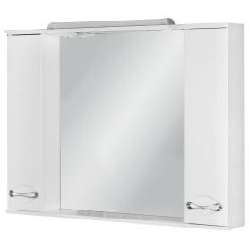 Шкаф зеркальный «Палермо» 105 см цвет белый