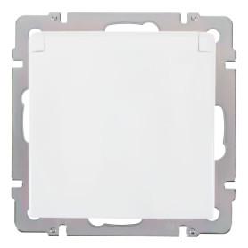 Розетка встраиваемая влагозащищённая Werkel с заземлением, с крышкой и шторками, IP44, цвет белый