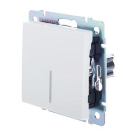 Выключатель встраиваемый Werkel 1 клавиша с подсветкой, цвет белый