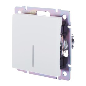 Выключатель проходной встраиваемый Werkel 1 клавиша с подсветкой, цвет белый