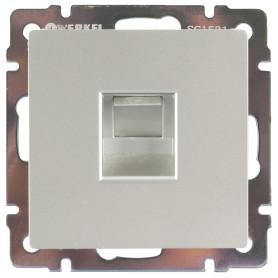 Розетка компьютерная встраиваемая Werkel RJ45, цвет серебряный