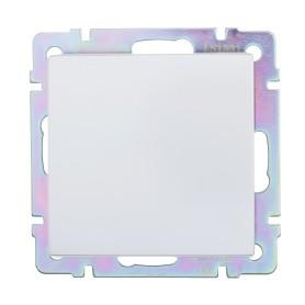 Выключатель проходной встраиваемый Werkel 1 клавиша, цвет серебряный