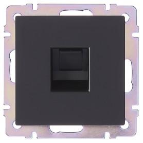 Розетка компьютерная встраиваемая Werkel RJ45, цвет черный