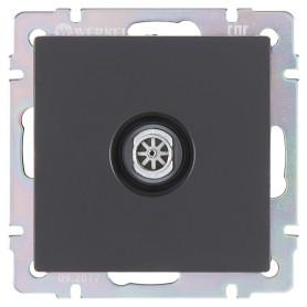 ТВ-розетка оконечная встраиваемая Werkel звезда, цвет черный