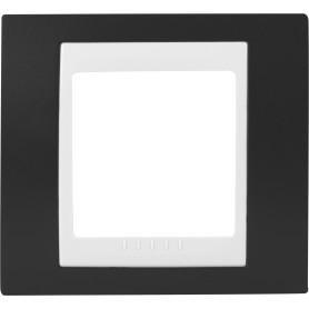 Рамка для розеток и выключателей Schneider Electric Unica 1 пост, цвет какао/белый