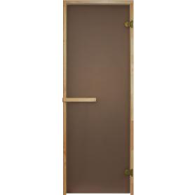 Дверь для сауны, 69х189 см, цвет матовая бронза