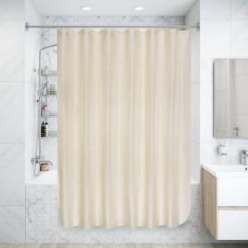Штора для ванной комнаты «Бриллиант» 180х180 см цвет бежевый