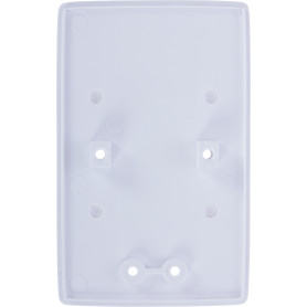 Пластина монтажная для 2х-местной розетки Reone 69х110 мм, цвет белый