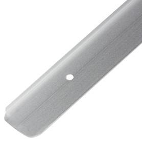 Планка для столешницы торцевая 2.6 см цвет матовый хром