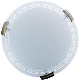 Светильник настенно-потолочный Greca 2xE27x60 Вт, металл/стекло