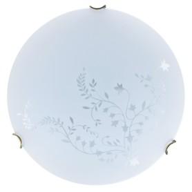 Светильник настенно-потолочный Kusta 2xE27x60 Вт, цвет белый/бронза
