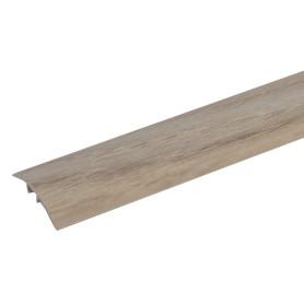 Порог разноуровневый (кант) Artens скрытый 30х900х0-8 мм цвет дуб белый