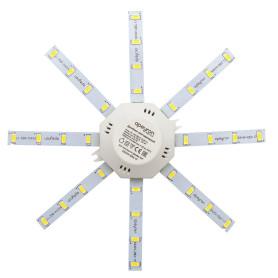 """Линейки светодиодные """"Звездочка"""" 180 мм 12 Вт, 900 лм, свет тёплый белый"""