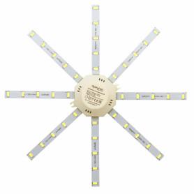 """Линейки светодиодные """"Звездочка"""" 220 мм 16 Вт, 1200 лм,  свет тёплый белый"""