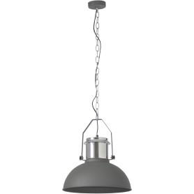 Подвесной светильник Inspire Ted 1xE27x60 Вт, 38 см, металл серый