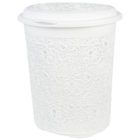 Корзина для белья «Кружево» 50 л цвет белый
