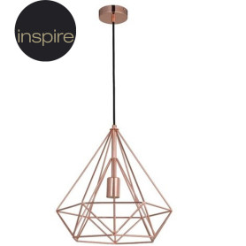 Подвесной светильник Inspire Byron 1xE27x60 Вт, 37 см, металл