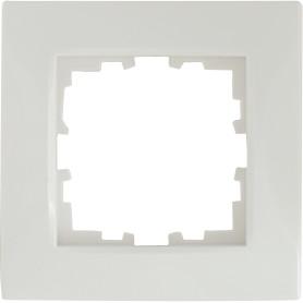 Рамка для розеток и выключателей Lexman Виктория сферическая, 1 пост, цвет белый