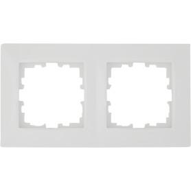 Рамка для розеток и выключателей Lexman Виктория сферическая, 2 поста, цвет белый